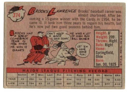 1958 Topps, Baseball Cards, Topps, Brooks Lawrence, Redlegs, Reds