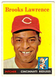 1958 Topps, Baseball Cards, Topps, Brooks Lawrence, Redlegs, Reds
