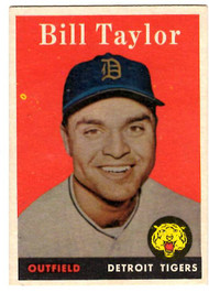 1958 Topps, Baseball Cards, Topps, Bill Taylor, Tigers