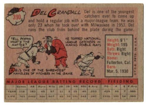 1958 Topps, Baseball Cards, Topps, Del Crandall, Braves