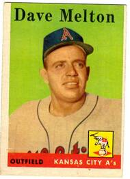 1958 Topps, Baseball Cards, Topps, Dave Melton, A's