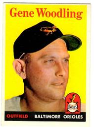1958 Topps, Baseball Cards, Topps, Gene Woodling, Orioles