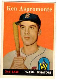 1958 Topps, Baseball Cards, Topps, Ken Aspromonte, Senators