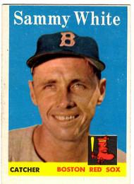 1958 Topps, Baseball Cards, Topps, Sammy White, Red Sox
