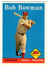 1958 Topps, Baseball Cards, Topps, Bob Bowman, Phillies