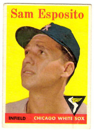 1958 Topps, Baseball Cards, Topps, Sam Esposito, White Sox
