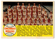 1958 Topps, Baseball Cards, Topps, Cincinnati Redlegs, Reds, Alpha Checklist, checklist