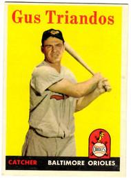 1958 Topps, Baseball Cards, Topps, Gus Triandos, Orioles