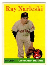 1958 Topps, Baseball Cards, Topps, Ray Narleski, Indians