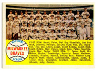 1958 Topps, Baseball Cards, Topps,  Milwaukee Braves, Alpha Checklist, checklist