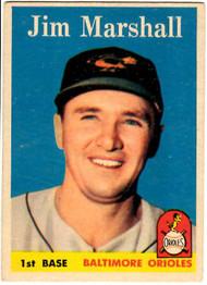 1958 Topps, Baseball Cards, Topps, Jim Marshall, Orioles