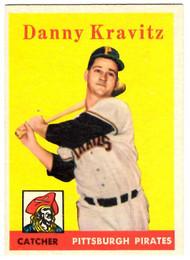1958 Topps, Baseball Cards, Topps, Danny Kravitz, Pirates