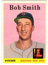 1958 Topps, Baseball Cards, Topps, Bob Smith, Red Sox