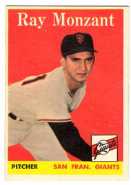 1958 Topps, Baseball Cards, Topps, Ray Monzant, Giants