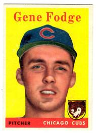 1958 Topps, Baseball Cards, Topps, Gene Fodge, Cubs
