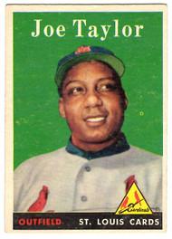 1958 Topps, Baseball Cards, Topps, Joe Taylor, Cardinals