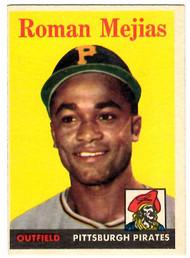 1958 Topps, Baseball Cards, Topps, Roman Mejias, Pirates