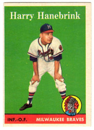 1958 Topps, Baseball Cards, Topps, Harry Hanebrink, Braves, RC