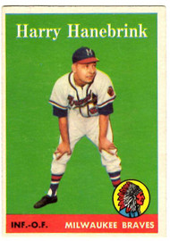 1958 Topps, Baseball Cards, Topps, Harry Hanebrink, Braves