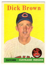 1958 Topps, Baseball Cards, Topps, Dick Brown, Indians