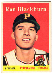 1958 Topps, Baseball Cards, Topps, Ron Blackburn, Pirates