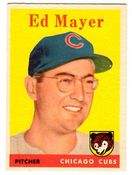 1958 Topps, Baseball Cards, Topps, Ed Mayer, Pirates