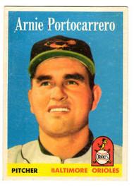 1958 Topps, Baseball Cards, Topps, Arnie Portocarrero, Orioles