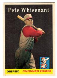 1958 Topps, Baseball Cards, Topps, Pete Whisenant, Redlegs, Reds