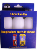 UCO 9-hour survival candle replacement 3-pack