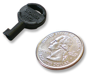 Covert Handcuff Key.  Quarter included for comparison.  However, it is available for an extra $0.25