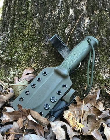 Survival package includes the Mora Kansbol knife with the factory sheath as well as the CMS Kydex dangler and attached ferrocerium rod