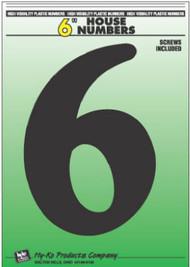 """6"""" Blk Plas Number 6"""