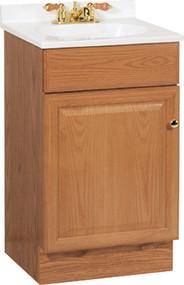 19x17x35-1/4 Oak Vanity