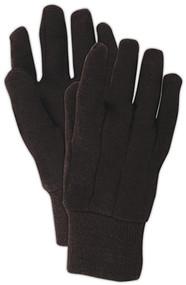 Lg Brn Jersey Glove