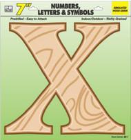 "7"" Wd Grain Letter X"
