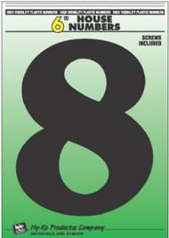 """6"""" Blk Plas Number 8"""