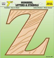 """7"""" Wd Grain Letter Z"""