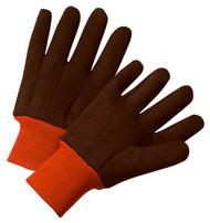 Lg Brn Fleece Jer Glove