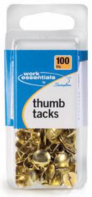 100ct Gld Thumb Tacks