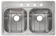 22x33 Ss Dbl Bowl Sink