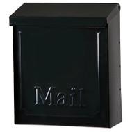 Blk Stl Vert Mailbox
