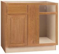 """45""""oak Corn Bas Cabinet"""