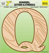 """7"""" Wd Grain Letter Q"""
