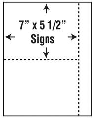 25pk 7x5.5blnk Out Sign