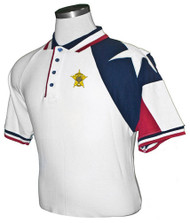 MEN'S WHITE TEXAS PIQUE POLO
