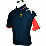 MEN'S NAVY TEXAS PIQUE POLO