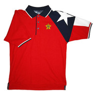 MEN'S RED TEXAS PIQUE POLO