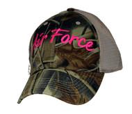 U.S. AIR FORCE Military Hat Official item Kaki Camo Ladies Mesh
