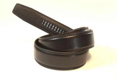 "BLACK - Top Grain Leather Belt   Fits all waist sizes up to 44""  Belt is 1.25 inches wide and fits all GoTo Belt Buckles"