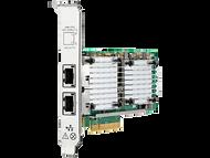 HPE 657128-001 Dual Port 10Gbps Ethernet PCI Express 2.0 x8 530T Network Adapter for ProLiant Gen9 Gen10 Apollo Gen9 Gen10 Servers (3 Years Warranty)
